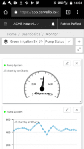 Cervello Device Dashboard